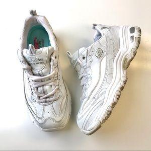 Skechers D Lite Fresh Start sneaker white 8